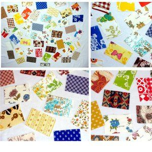 Other - Quilt block quilting fabric material lot